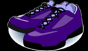 paarse schoen